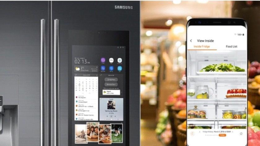 Lanza Samsung refrigerador con cámaras y pantalla(Cortesía)