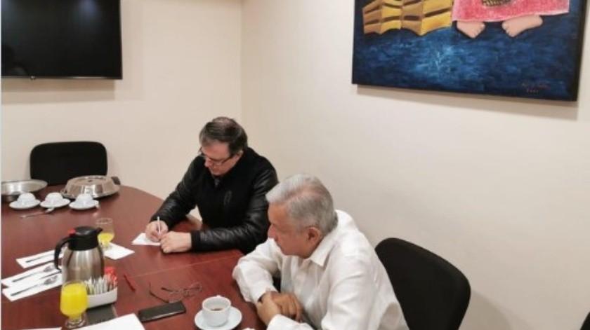El presidente López Obrador sostuvo una llamada telefónica con Donald Trump.(Twitter.)