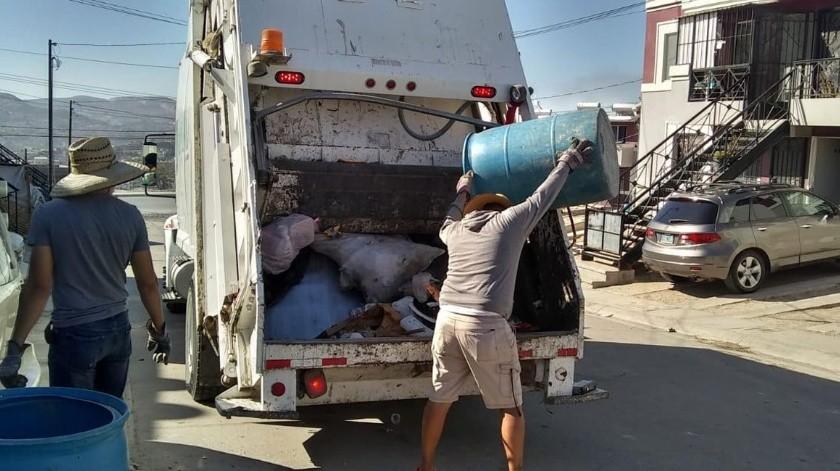 Se recogerán 11.80 toneladas de basura acumuladas en la semana.(Cortesía)