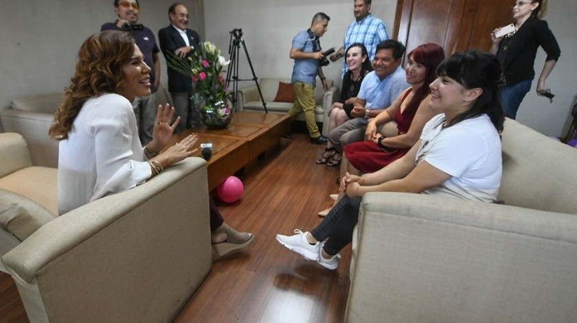 Alexa Moreno se reune con alcaldesa(Archivo)