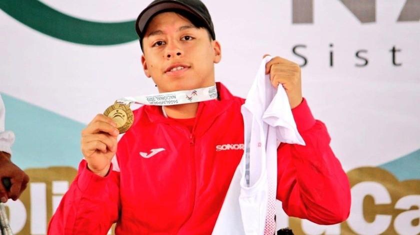 Luis Alberto Paz se convirtió en tricampeón en lanzamiento de disco y bala.(Cortesía)