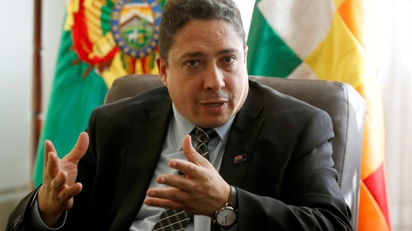 Héctor Arce, ministro de Justicia en el país.(EFE)