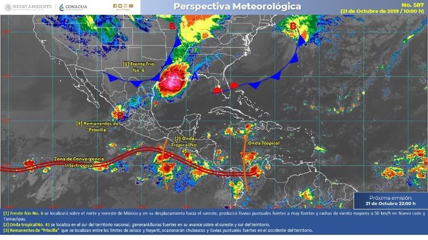 Se pronostican lluvias intensas en SLP, Querétaro, Hidalgo, Puebla y Veracruz(Conagua)