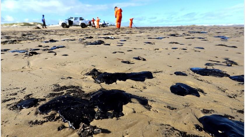 Mourão dijo que se implementaron todos los recursos necesarios para la recuperación del crudo, reiterando los comentarios previos del ministerio del Medio Ambiente.(EFE)