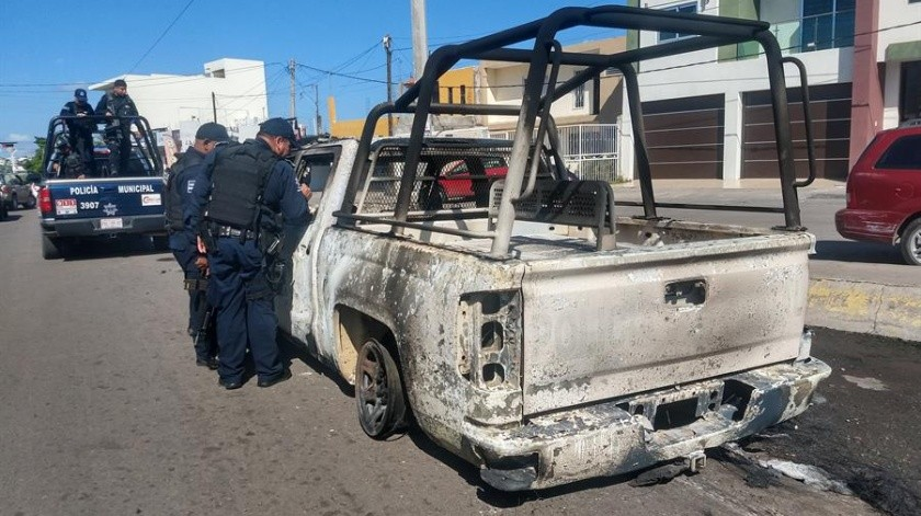 Aumentaron a 14 los muertos por las balaceras registradas en Culiacán el pasado jueves.(EFE)