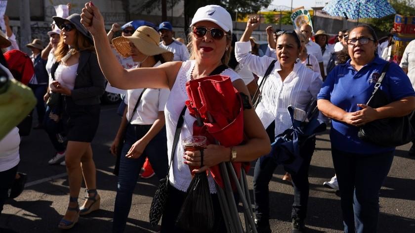 Manifestación de maestros(VICTOR MEDINA)