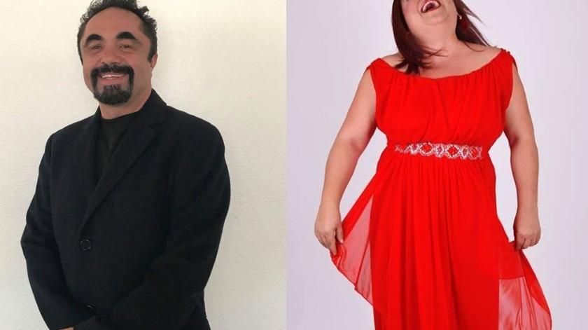 La actriz y comediante Claudia Bermúdez promete una velada inolvidable y llena de carcajadas de la mano del también comediante y actor Cesar Manjarrez.(Cortesía)