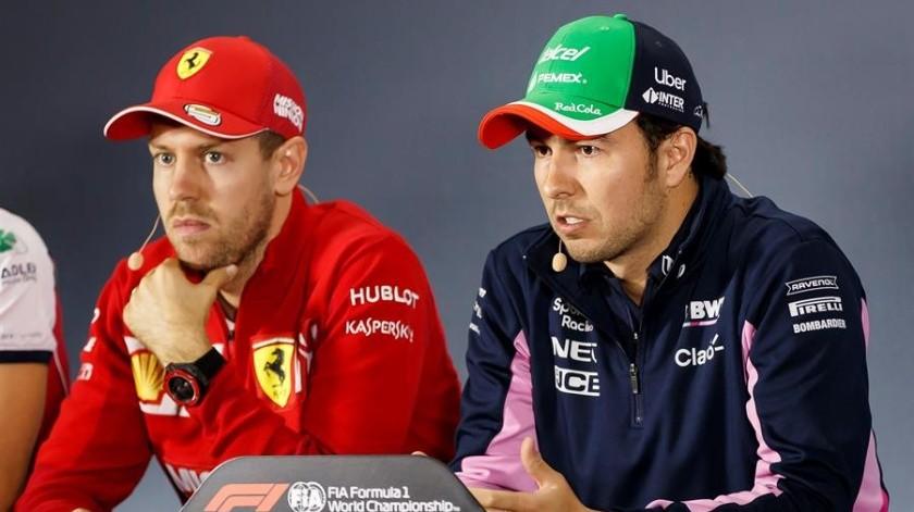 """El piloto mexicano Sergio """"Checo"""" Pérez, piloto de la escudería Racing Point, aseguró este jueves que la protesta de su equipo contra Renault fue para cuidar los intereses de su escudería y nada más.(EFE)"""