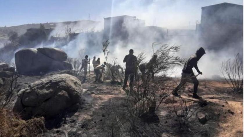 Los elementos del Ejército lograron controlar el incendio.(Cortesía)