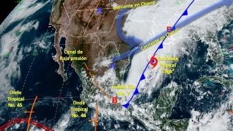 """La tormenta tropical """"Olga"""" se formó el viernes en el Golfo de México."""