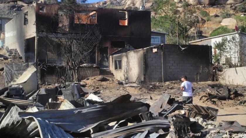 Familias de El Mirador vieron cómo sus viviendas fueron consumidas por el fuego.(Jesús Bustamante)