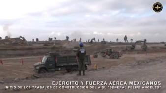 VIDEO: Sedena presume trabajos de construcción de Santa Lucía