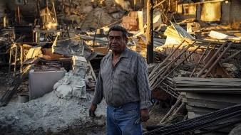 Incendio acabó con 200 viviendas en BC