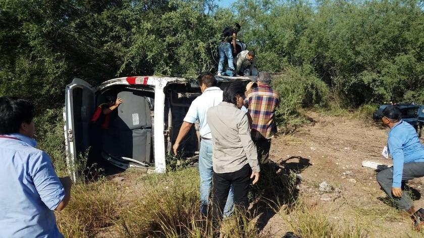 Se accidentan reporteros en cobertura presidencial; se dirigían a Pótam(Juan Hernández)