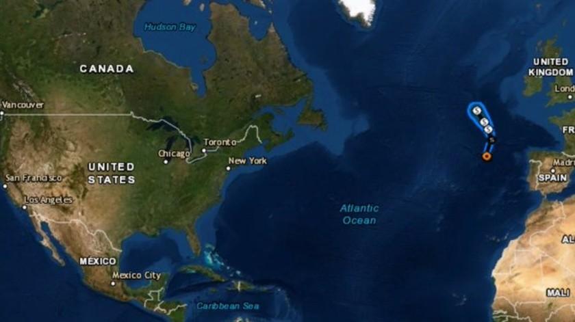 """El Huracán """"Pablo"""" se ha fortalecido levemente el domingo en la noche en el norte del océano Atlántico."""