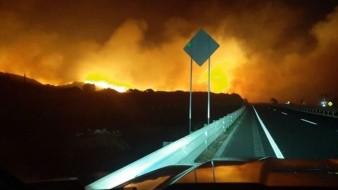 Se ha presentando incendio forestal por el rumbo del poblado de Ojos Negros.