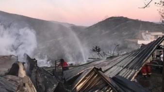 El incendio forestal por la zonas de Peñitas y Joyitas , en las cercanías del cañón de Doña Petra, registró una afectación de 25 viviendas y el fallecimiento de una persona como consecuencia aparentementedel incendio.