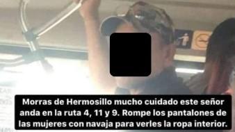 Alertan por presunto agresor sexual en transporte público