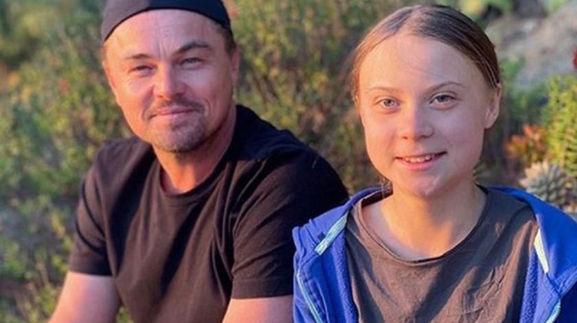 DiCaprio elogió la labor de Greta.(Cortesía Instagram)