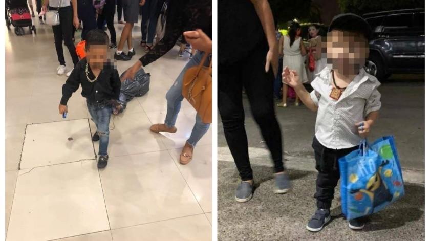 En redes sociales se volvieron virales unas fotos de menores con sus disfraces.
