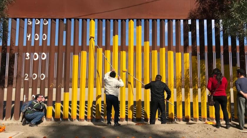 Así recordaron a los migrantes fallecidos en Tijuana.(Jesús Bustamante)