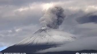 Reportan caída de ceniza en Valle de Chalco tras explosión del Popocatépetl