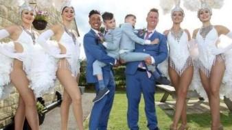 La pareja, y sus dos gemelos adoptados Levi y Lucas, de 13 años, estaban en un viaje a Walt Disney World Resort en Florida, EU.