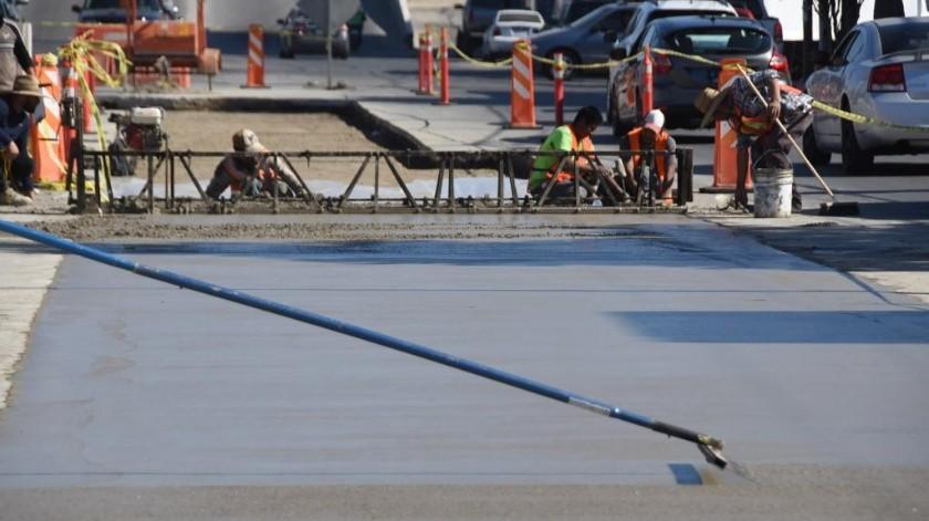 A partir de este día, dieron inicios los trabajos de rehabilitación con concreto hidráulico de la calle Segunda en el tramo de la Castillo a la Alvarado.(Cortesía)