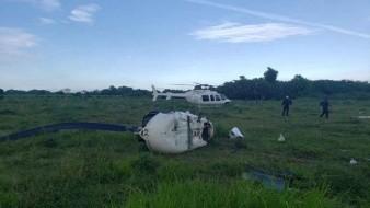 Colapsa helicóptero en Veracruz; reportan 3 heridos