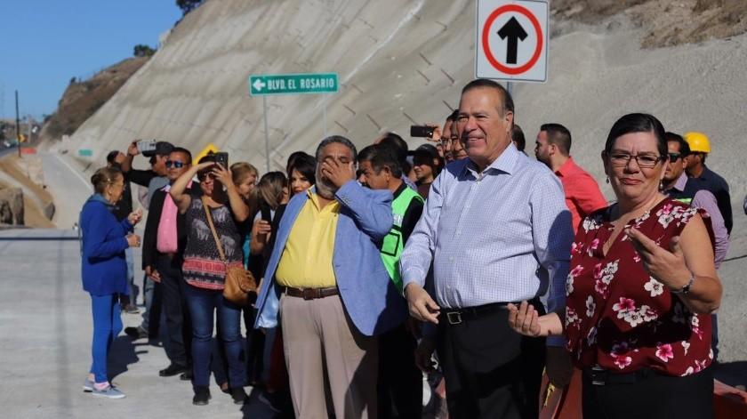 El alcalde Arturo González Cruz, encabezó la inauguración.(Sergio Ortiz)
