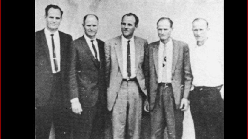 La familia LeBaron (de izquierda a derecha) Ervil, Joel, Verlan, Alma y Floren