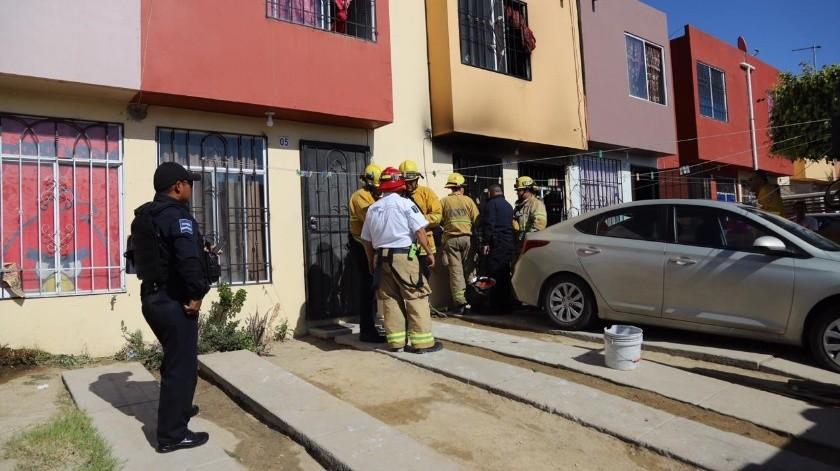 Tras estabilizarlos, los cuatro fueron trasladados al Hospital Regional Número Uno en condición grave.(Sergio Ortiz)
