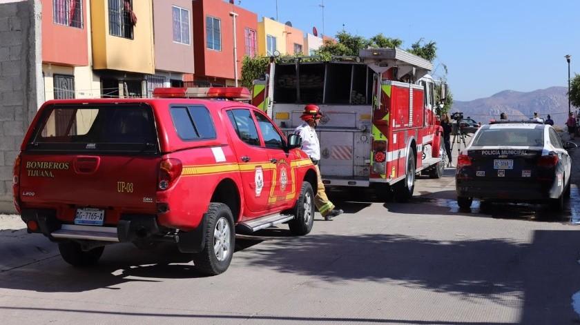 De acuerdo a información de vecinos, se desconoce como inició el fuego y únicamente se percataron del mismo al escuchar los gritos.(Sergio Ortiz)