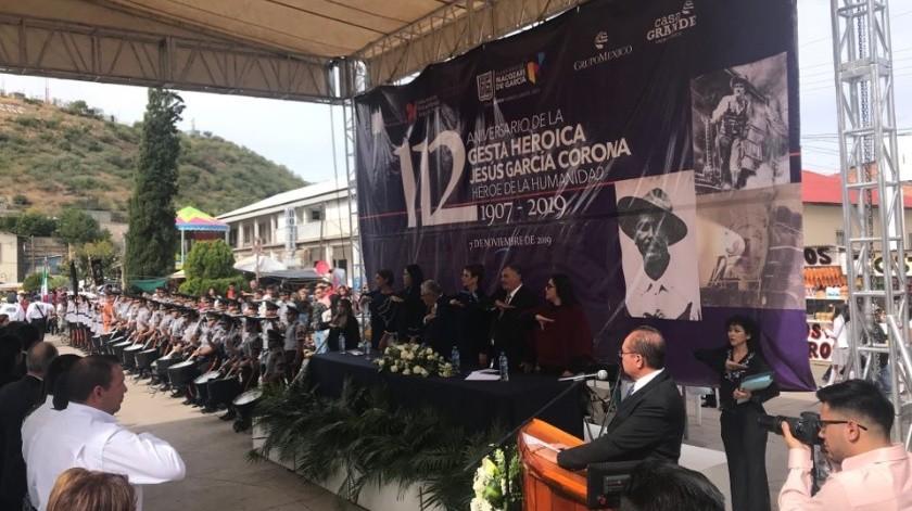 Conmemoran el 112 aniversario luctuoso de Jesús García.