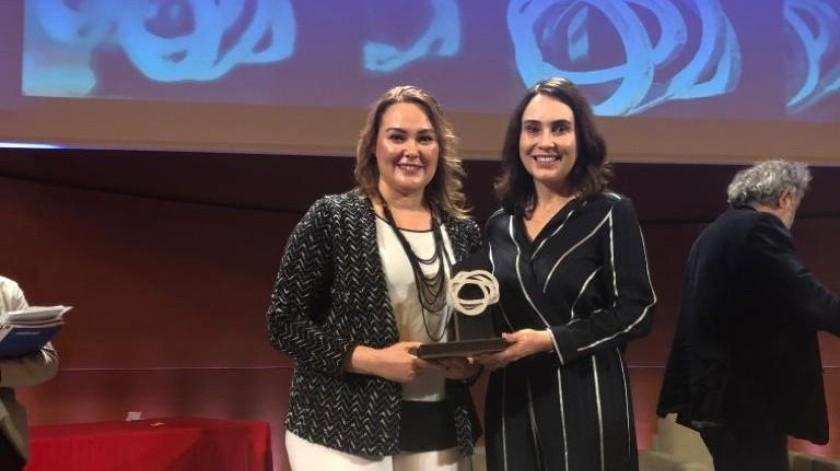 Este premio fue recibido por Teresa Díaz Quintanar, Miembro del Consejo de Administración acompañada de Claudia Acedo Ruiz, responsable del área de Planeación y Sostenibilidad de Caffenio.