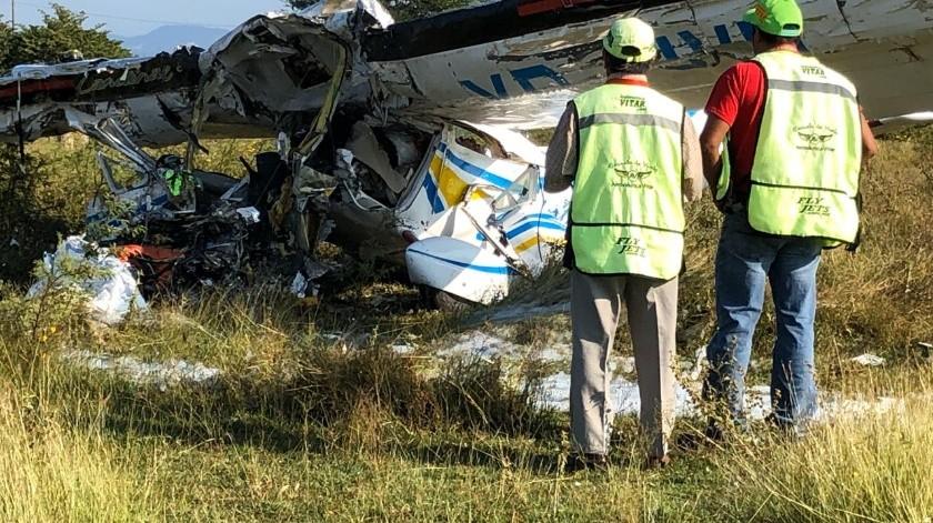 Los dos tripulantes de la aeronave fallecieron.(@l4nd3t4)