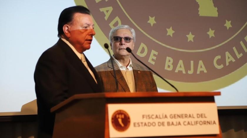 Guillermo Ruiz fue presentado por el gobernador Jaime Bonilla, como nuevo Fiscal General del Estado la mañana de este viernes.(Sergio Ortiz)