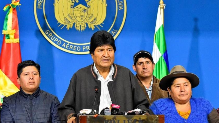 Bolivia: Renuncia Evo Morales tras 14 años en el poder; también vicepresidente(EFE)