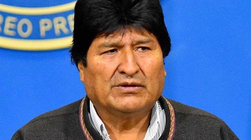 Morales anunció su renuncia tras casi catorce años en el poder después de que se fueran sucediendo las dimisiones de cargos oficialistas.(EFE)