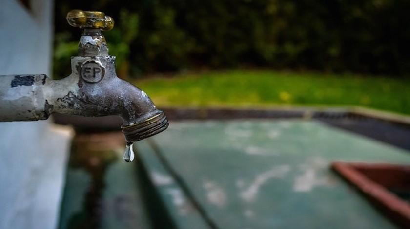 """Primer corte de agua programado para el martes 12, en """"Sección 1"""""""