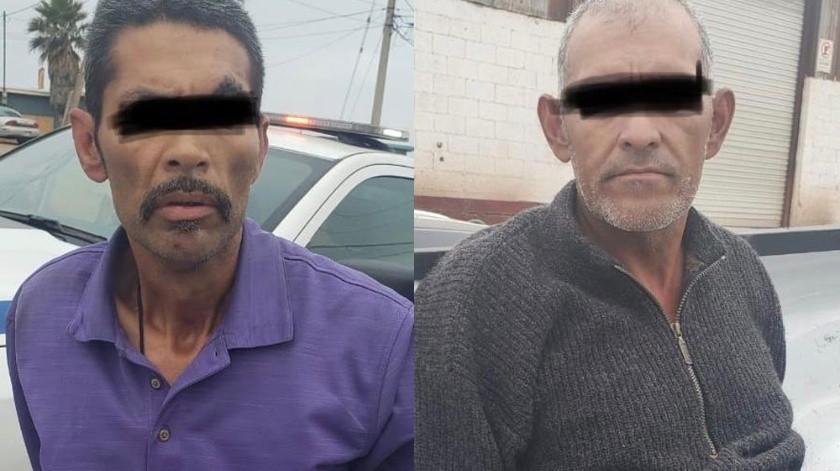 """Rodolfo """"N"""" y Carlos """"N"""", ambos de 50 años, son los detenidos."""