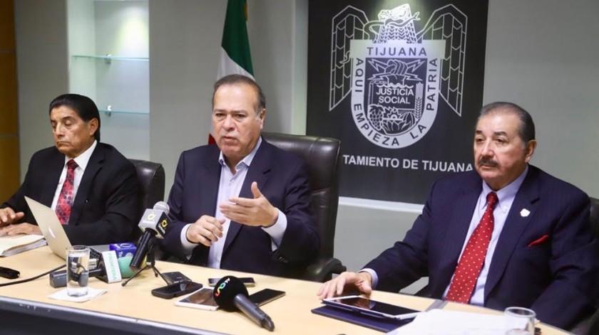 En conferencia de prensa se dio a conocer la situación de las finanzas municipales.(Jesús Bustamante)