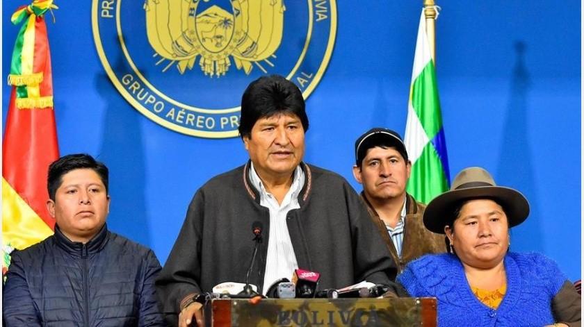 Morales esperaba llegar en el poder hasta es año, cuando su país celebre el bicentenario de la independencia, pero acabó saliendo al exilio a México.(EFE)