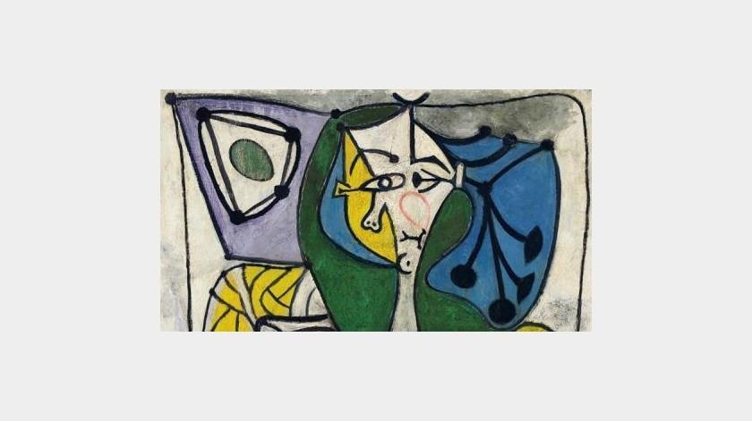 """Fotografía cedida este lunes por Christie's donde se muestra la obra """"Femme dans un fauteuil (Françoise)"""" de Pablo Picasso, que se vendió por 13,3 millones de dólares durante una subasta en Nueva York (EE.UU).(EFE)"""