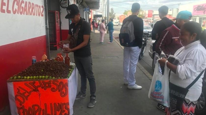 Venden chapulines con sal, limón y chile(Manuel Jiménez)