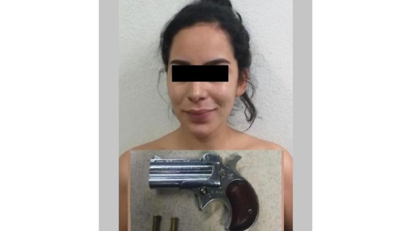 """La detenida está identificada como Abril """"N"""".(Cortesía)"""