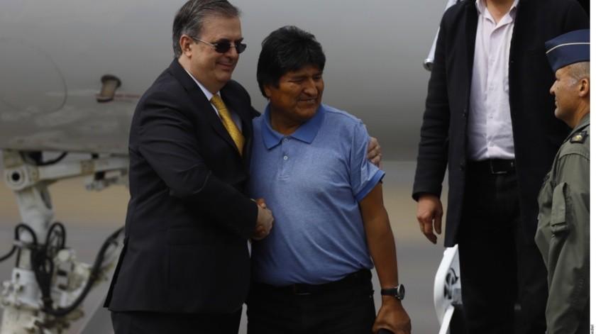 Marcelo Ebrard y Evo Morales(Agencia Reforma)