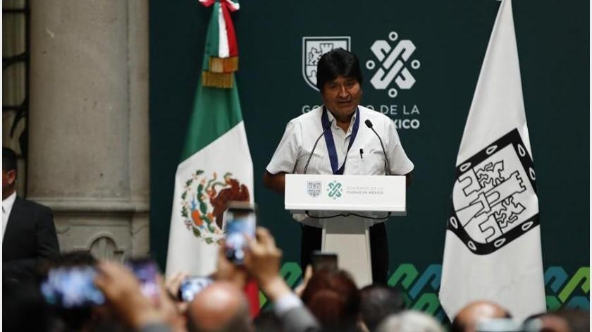 """Cuando anunció su dimisión Morales lamentó un """"golpe cívico"""" y que la Policía se hubiera replegado a sus cuarteles en los últimos días.(EFE)"""
