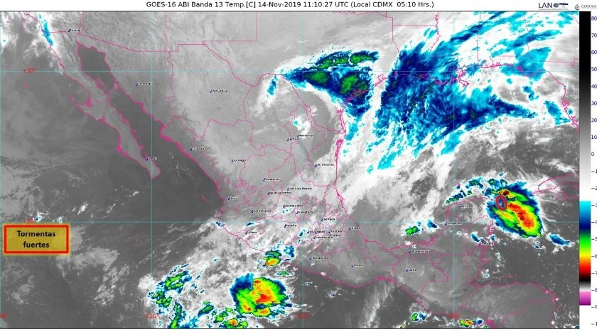80% de probabilidad de formarse un ciclón tropical al Norte de la Península de BC(Conagua)