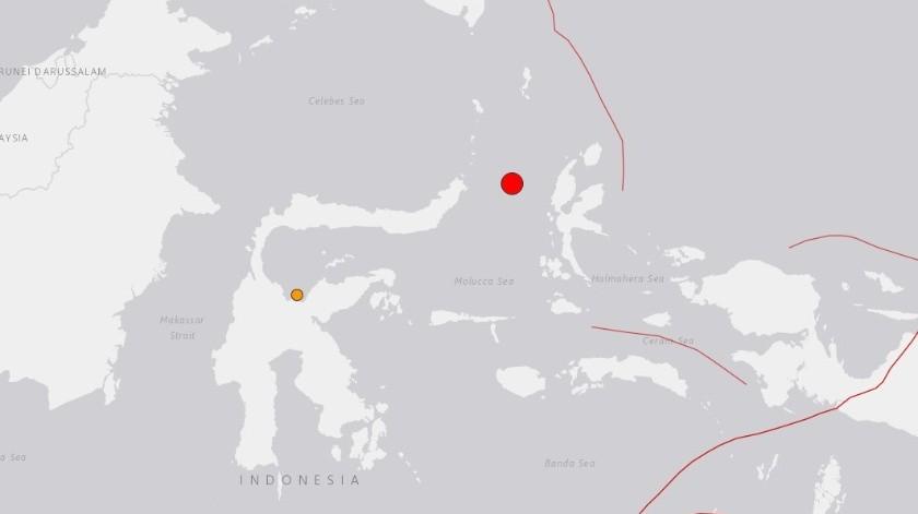 La localidad más cercana al temblor es Ternate, situada a 140 kilómetros al noroeste del epicentro.(USGS)
